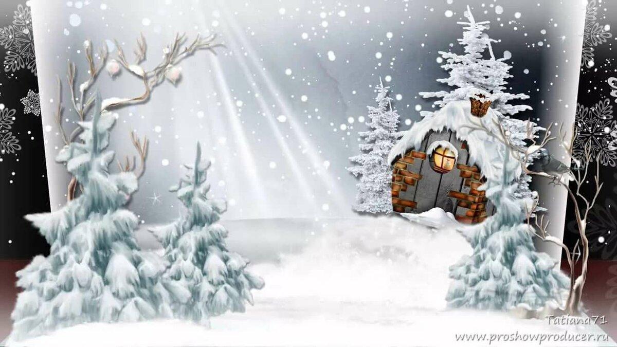 вам шаблоны к новому году зимний сказочный лес растение ирис