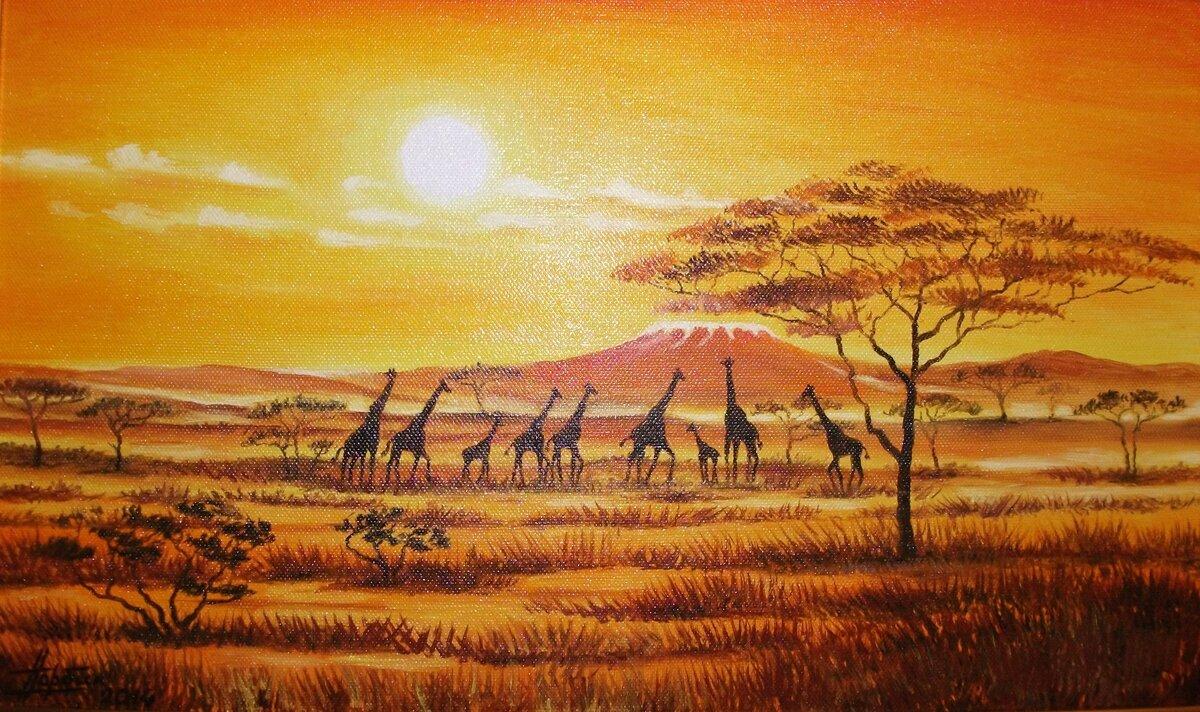 африканские пейзажи в картинках