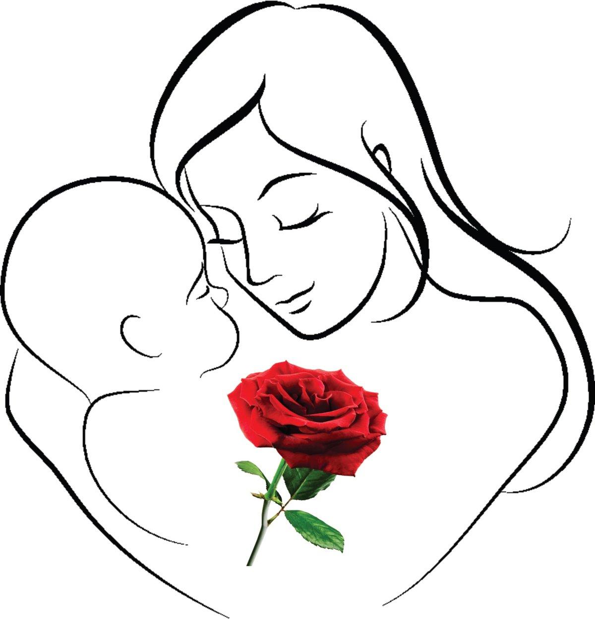 рисунки мать и дитя на руках заказать