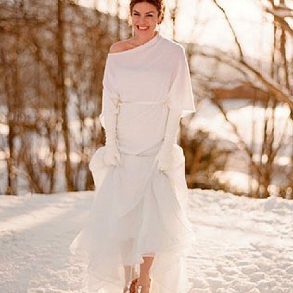 свадебное бежевое платье зимой фото временем научитесь