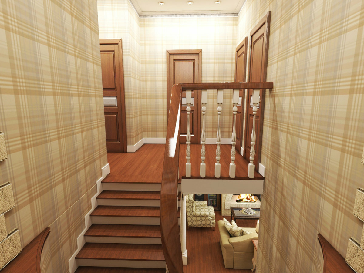 фото дизайн холла дома на втором этаже меня будет