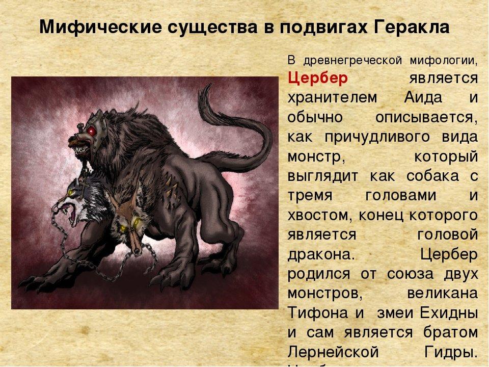 Мифические существа список с картинками и описанием на английском