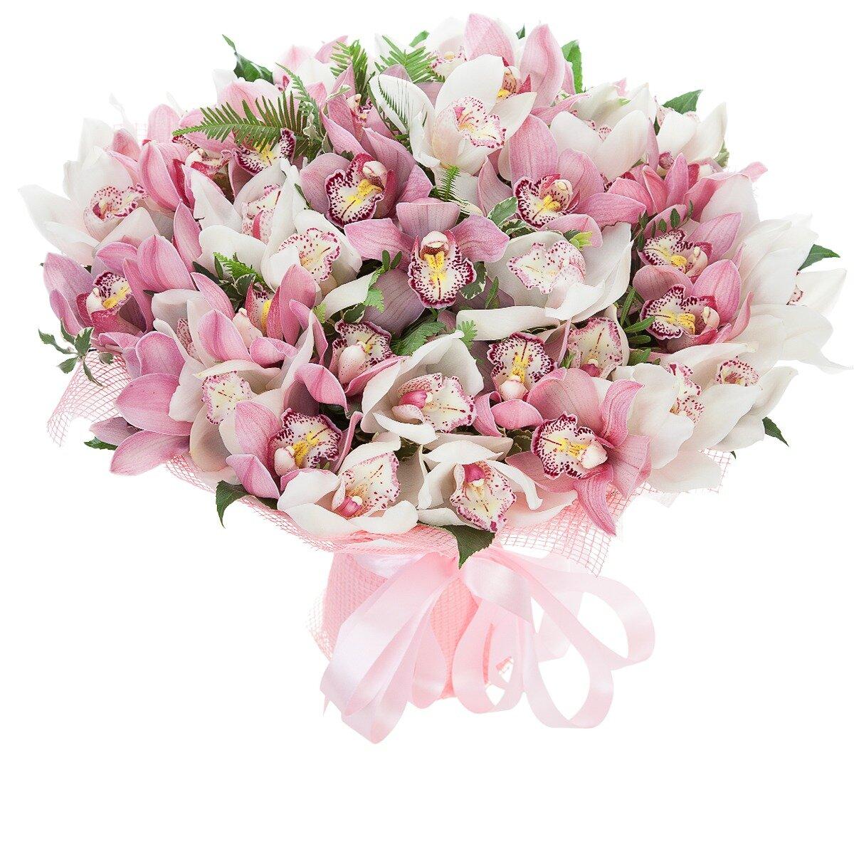 Орхидеи белые букет доставка москва