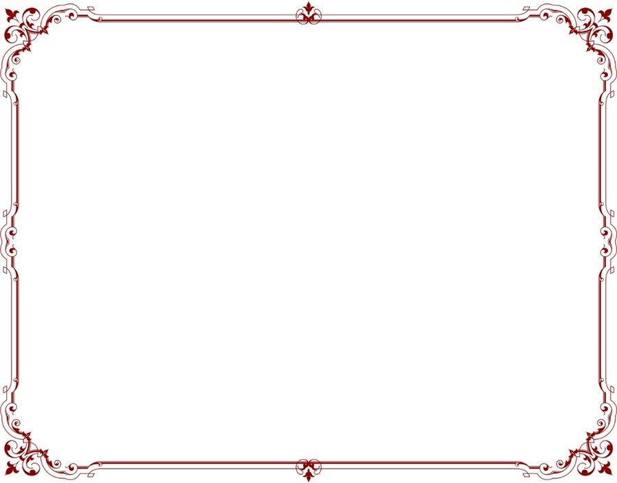 Простые рамки для открытки