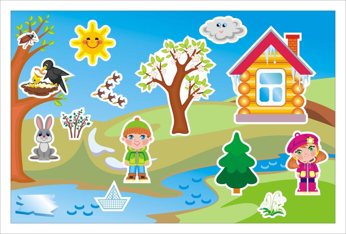 Картинки с изображением времен года для детского сада