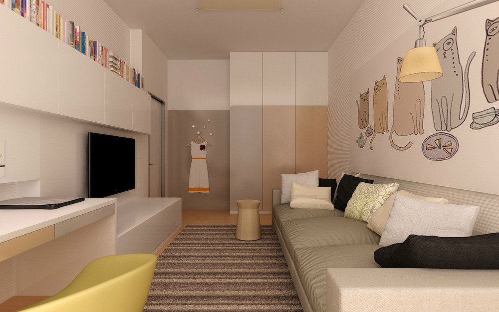 ширина комнаты 3 метра
