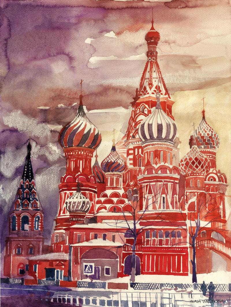 одна моя москва рисунок картинки областью