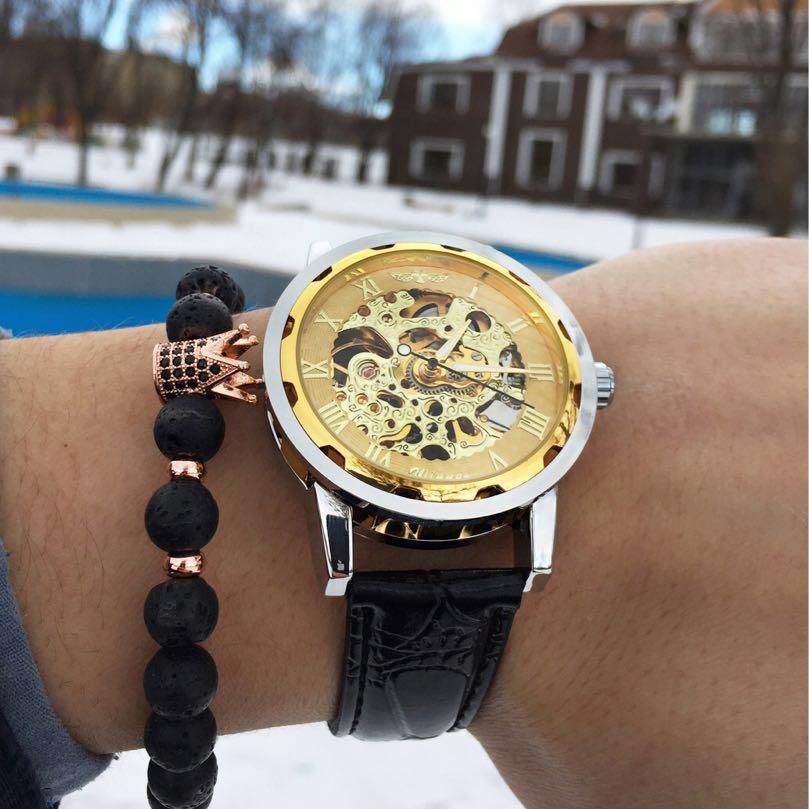 Часы из-за особенностей конструкции и дизайна смотрятся стильно и дорого.