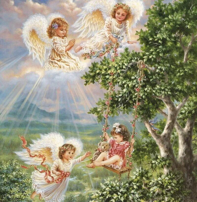 Моя кошечка, открытки с днем рождения ангелы хранитель