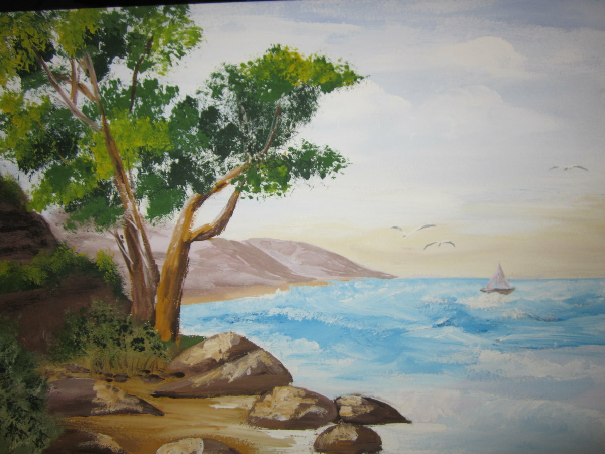 Картинки для рисования пейзажей