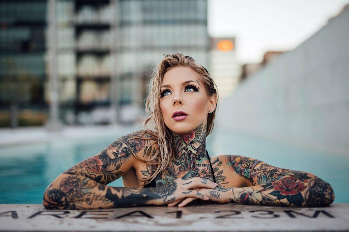 Красивые девушки фото с татуировкой