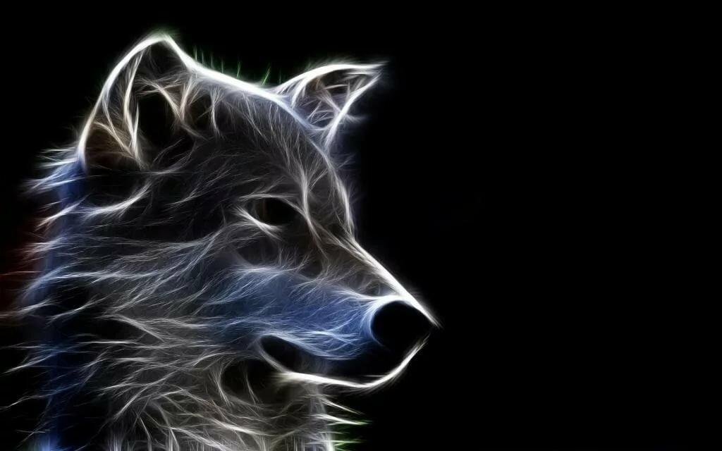 валькирии картинка волк абстракция его