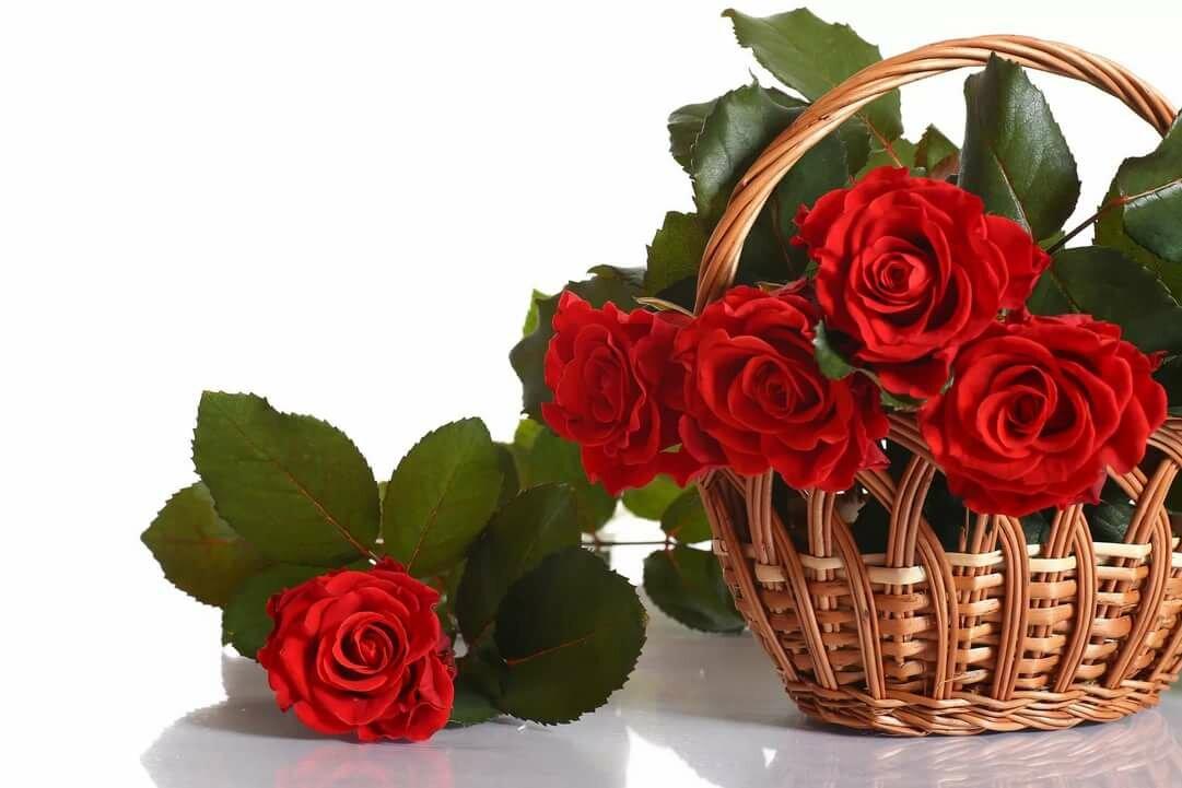 Открытка с букетом роз с днем рождения для тебя, картинках