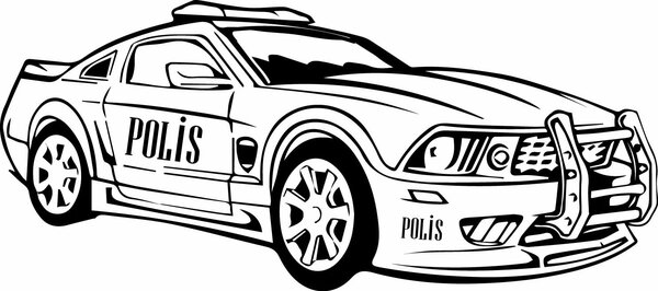 Polis Arabasi Boyama Etkinlik Sayfasi Etkinlik Makinesi Et