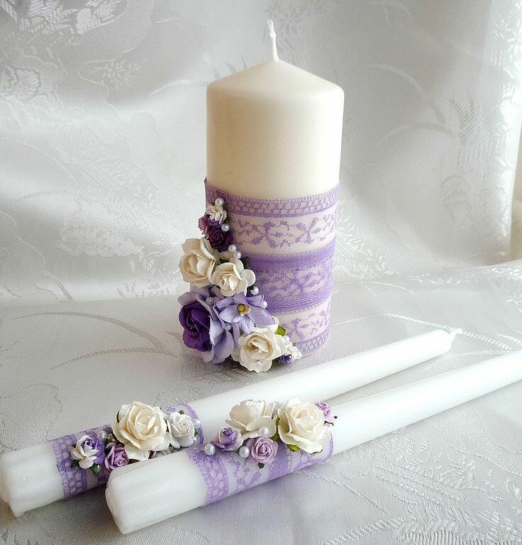 картинки свадебные свечи своими руками так, чтобы одной