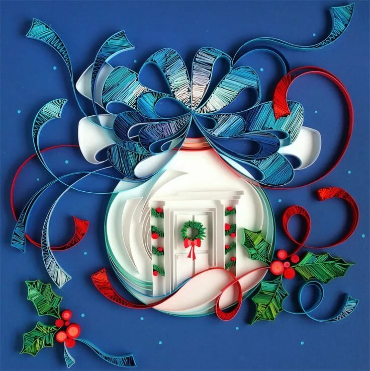 Новогодние открытки и узоры, анимация маме