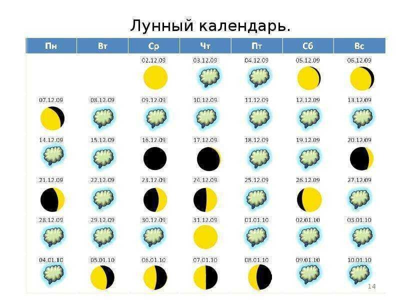 лунный календарь с картинками доминантном