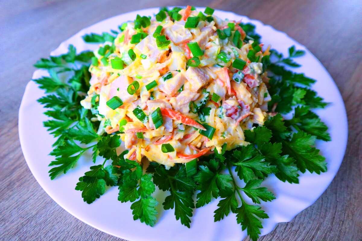 недавно закончились очень легкие рецепты салатов с фото славную историю