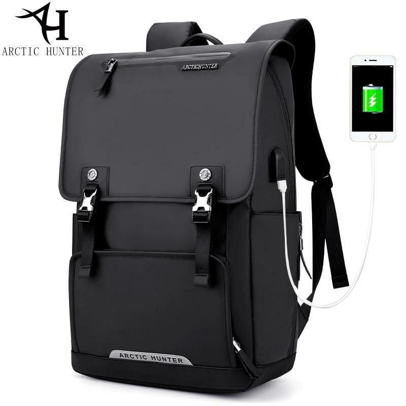 407f470f506c ... Мода USB зарядка Рюкзак Большой Ёмкость ноутбук рюкзаки Для мужчин  Дорожная сумка Оксфорд + искусственная кожа