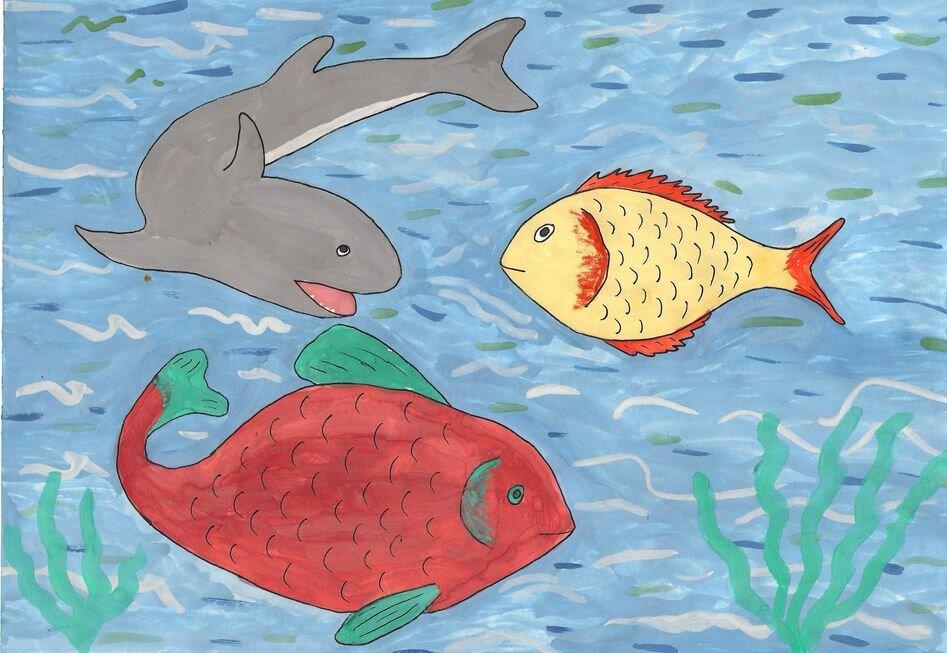 Картинки подводного мира рисовать