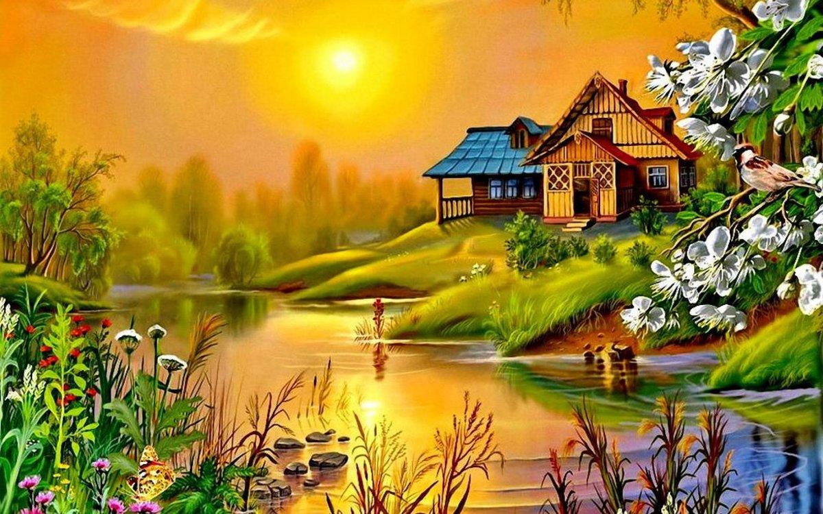 Прикол картинка, лето в деревне открытки
