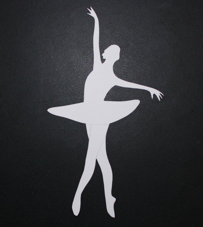 Шаблон картинка балерина