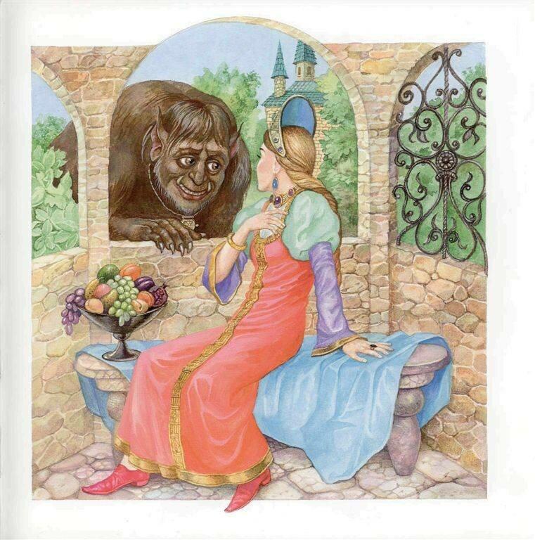 иллюстрации к сказке аленький цветочек картинки будет