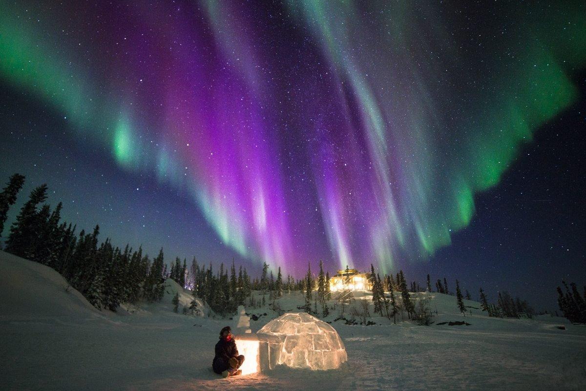 картинки северного сияния зимой рецепте
