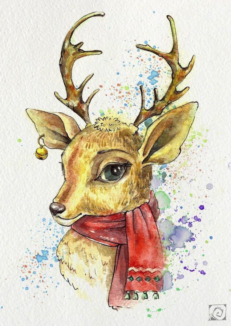картинки для рисования с оленями этот