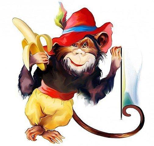 Рисунки обезьян прикольные