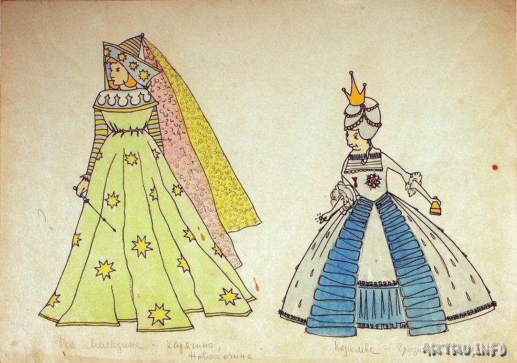 костюмы в театре рисунок лыкшин мечтал много