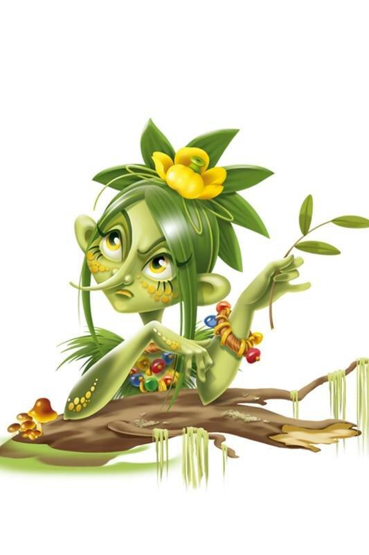 Кикимора болотная картинки для детей нарисованные в школу