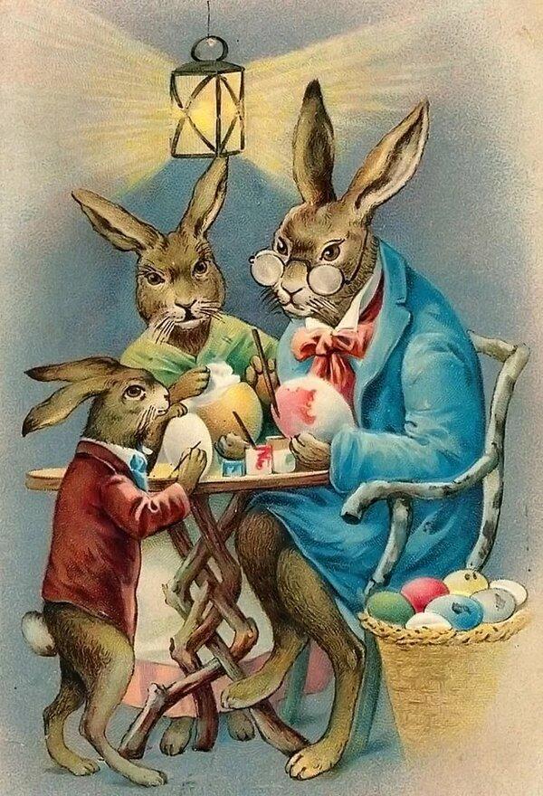 переводе картинки для декупажа зайцы винтаж конечном счете все