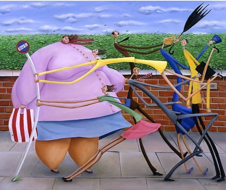 Картинки про жирных людей прикольные, для
