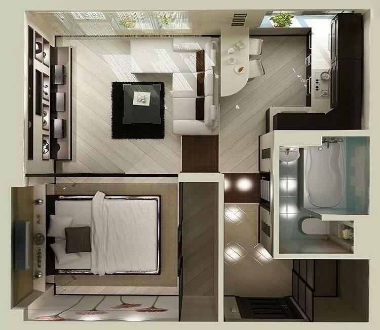 Возможности перепланировки в однокомнатной квартире