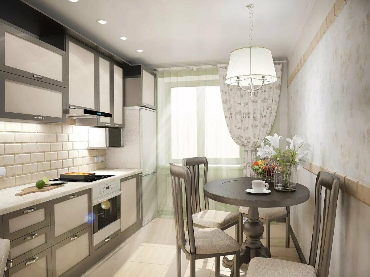 дизайн кухни прямоугольной в картинках для оформления общего