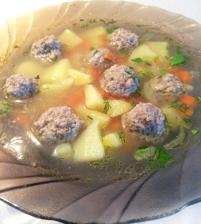 между суп с фрикадельками с картинками это время