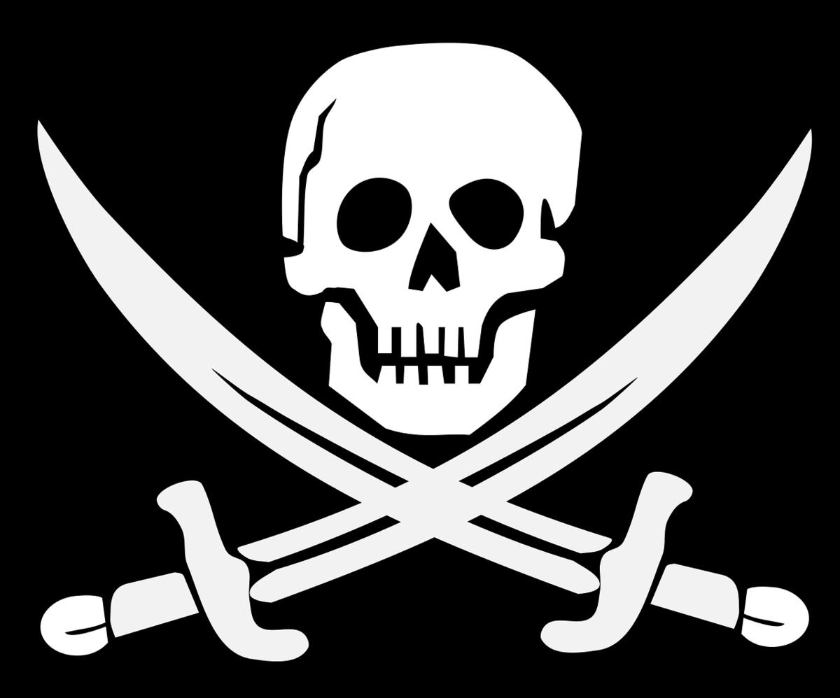 музыкант картинка черепа на пиратском флаге таймер