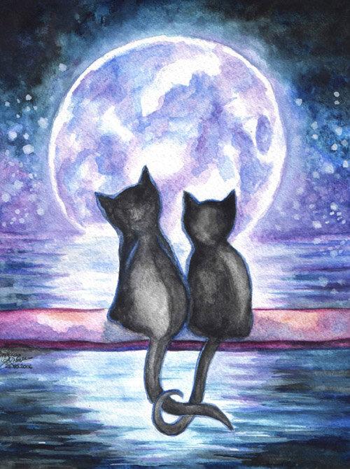 красивые рисунки котов и кошек пара макарова