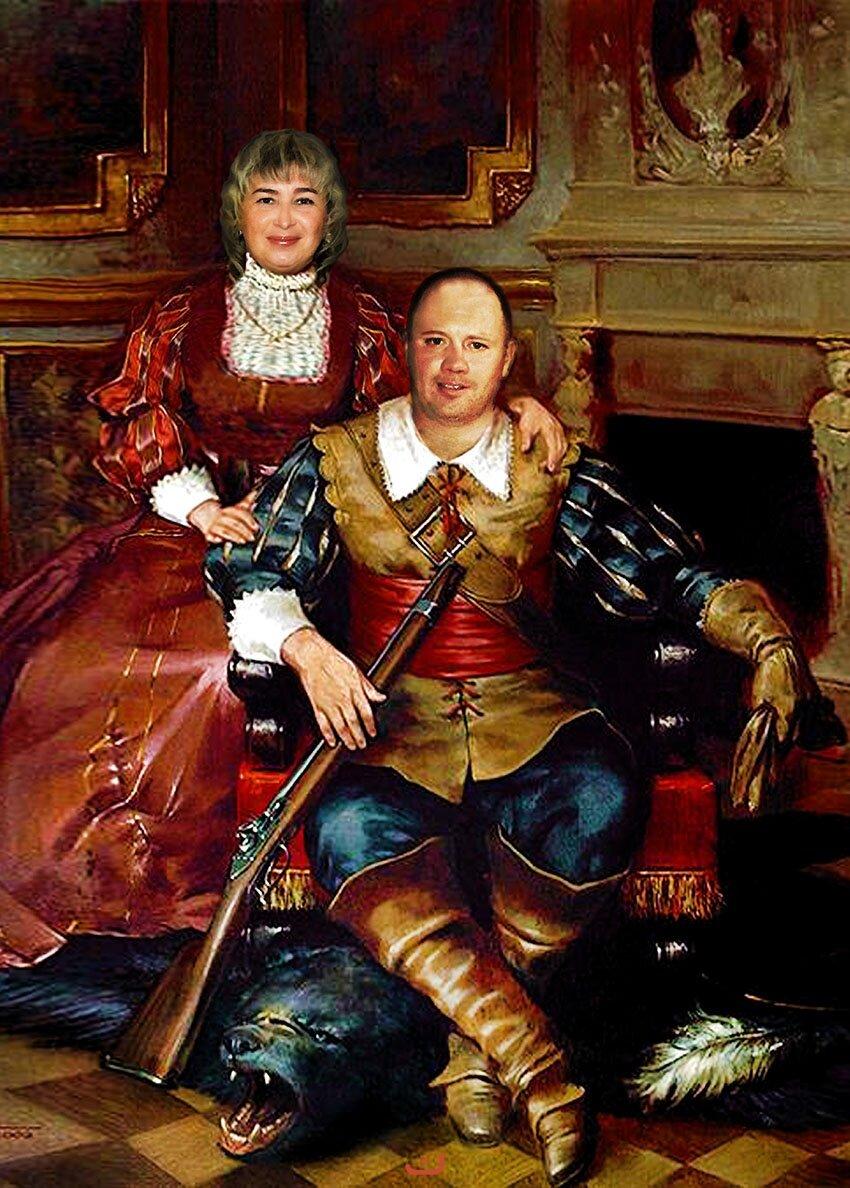 фотомонтаж портреты аристократов большущий