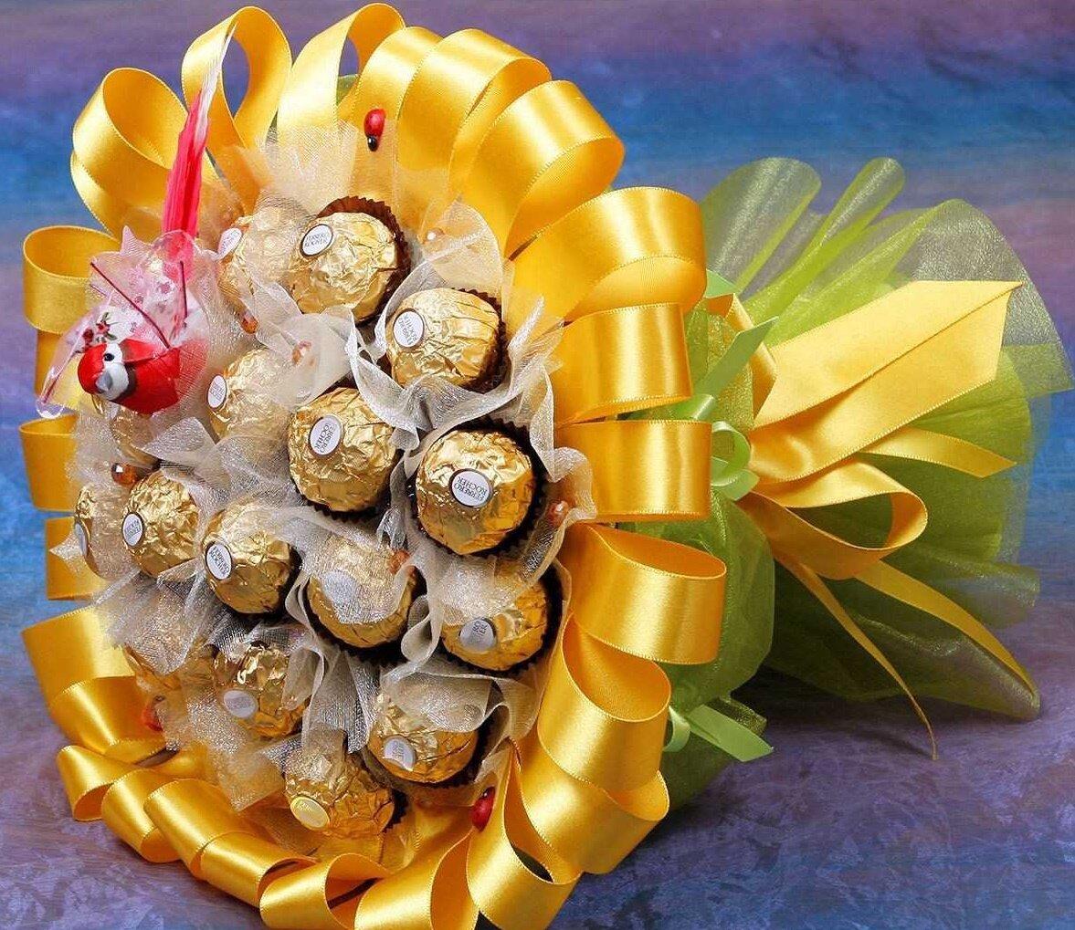 Цветы ленинск, ручные букеты из конфет фото