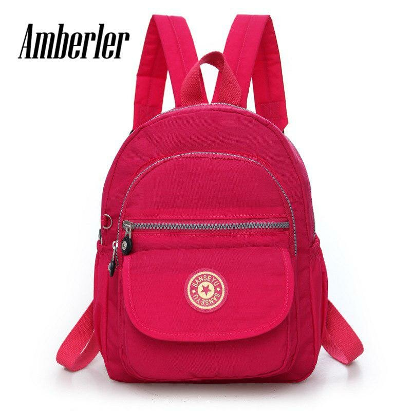 e6633bd296c4 ... Amberler Для женщин рюкзак Водонепроницаемый школьный рюкзак для  девочек-подростков маленьких модниц путешествия рюкзак плеча
