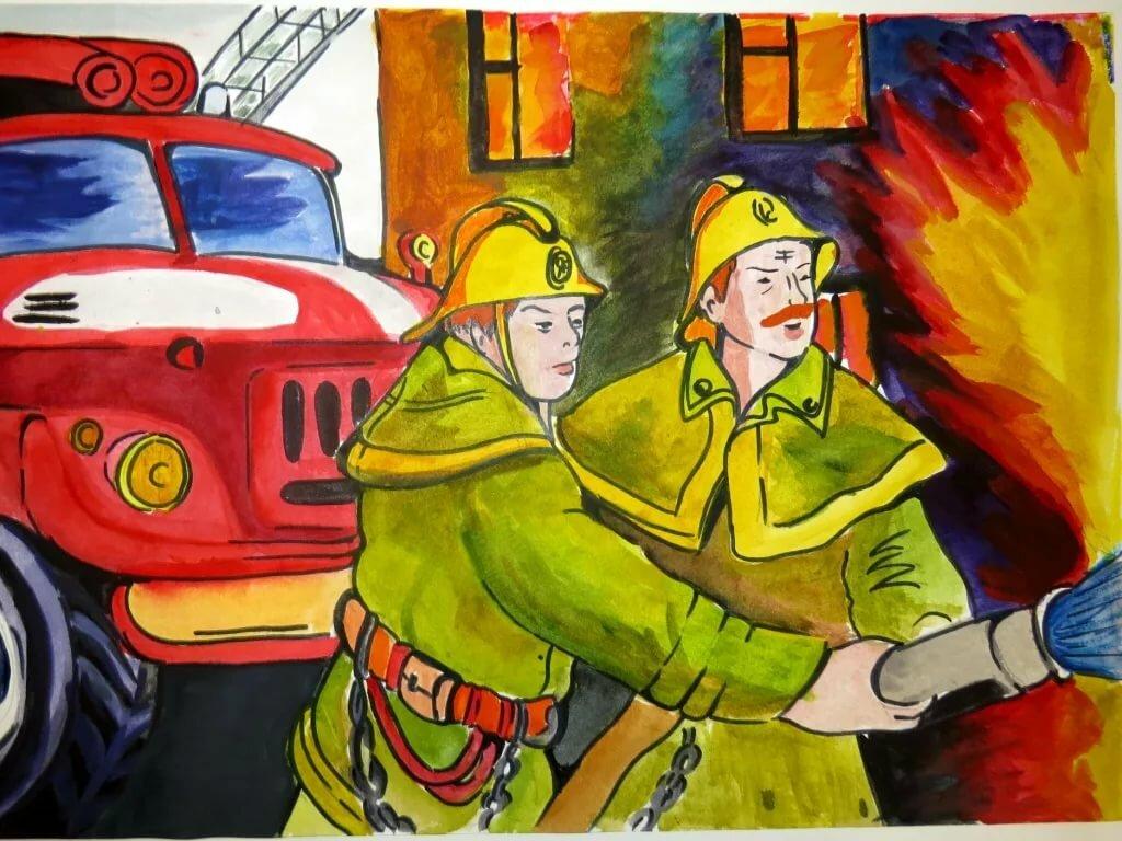 Картинки на пожарную тему для детей 2-3 лет, про мужа жену