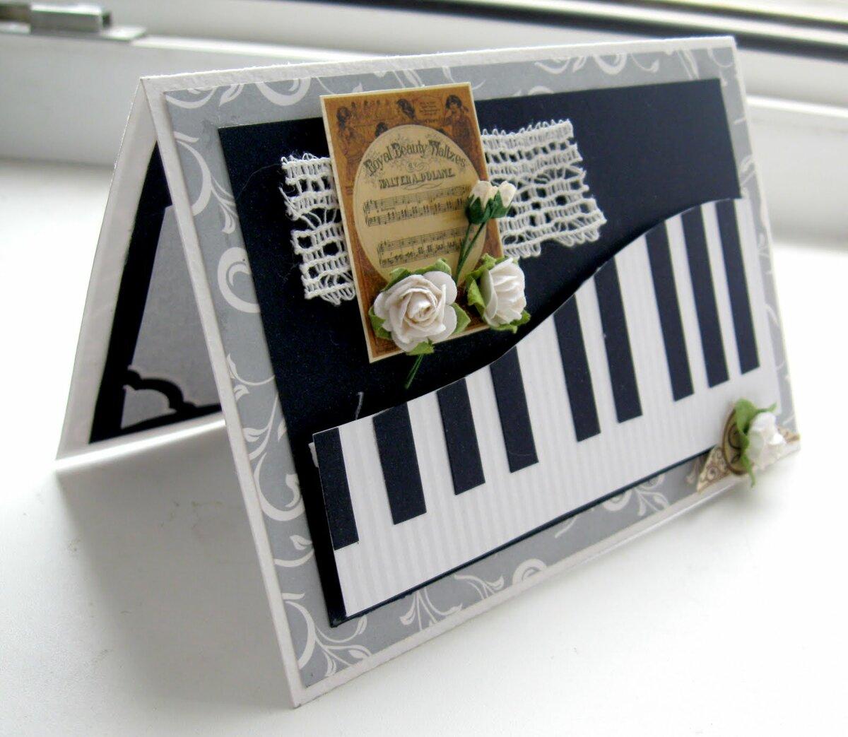 Подарок своими руками музыкальная открытка, открытке открытки