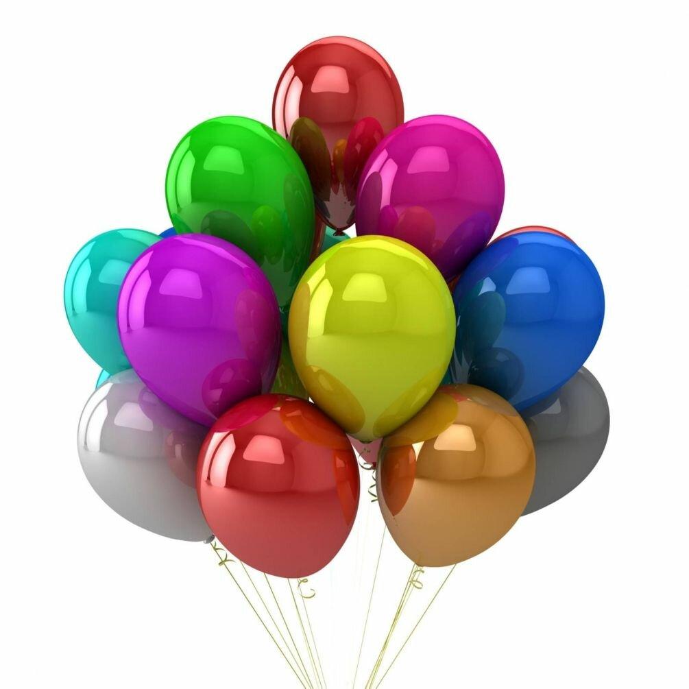Поздравление с шарами по цветам