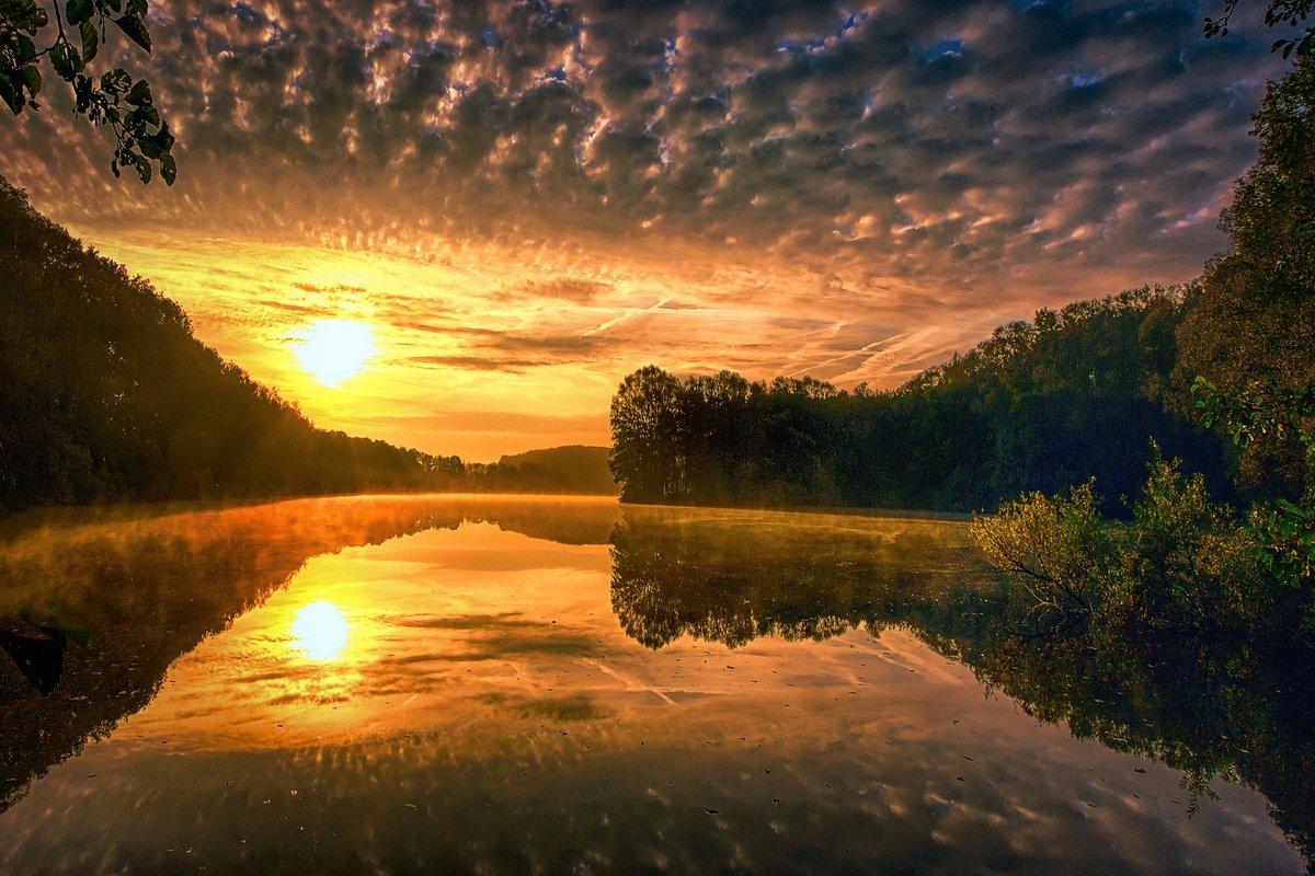 закат тропинка речка картинки состоит