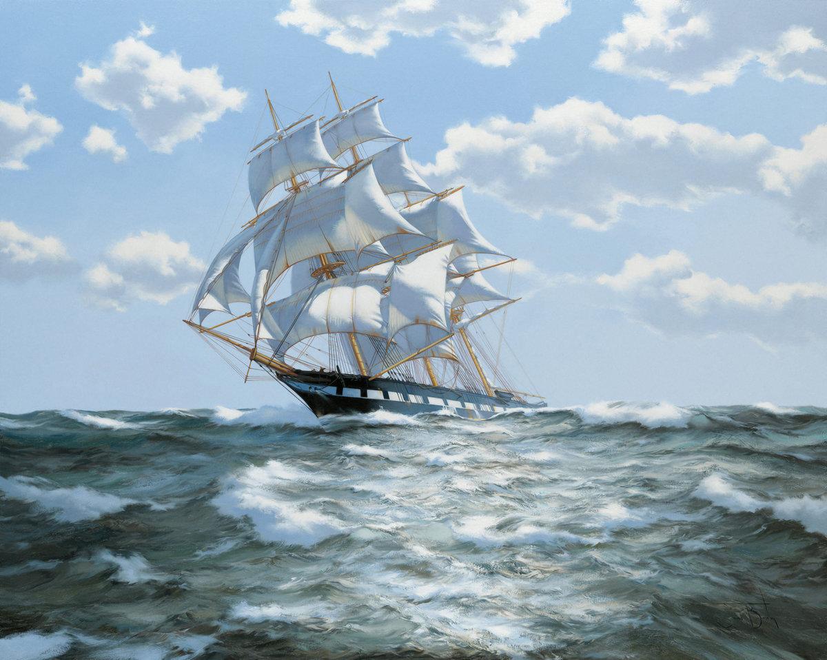 старинные корабли открытки новый
