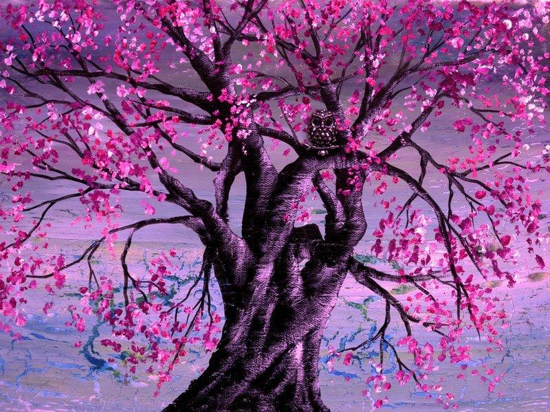 Картинки сакура в цвету нарисовать задания