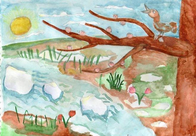 Земля весной картинка для детей