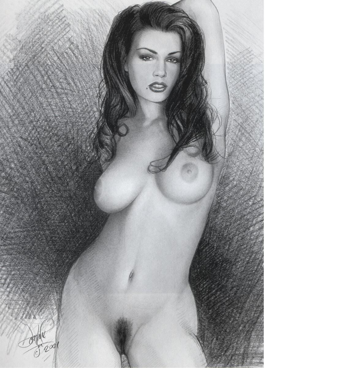 рисунки карандашом голых молодых девушек - 8